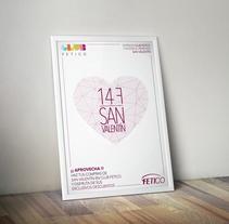 """Diseño gráfico - Cartel publicitario """"San Valentín"""". A Graphic Design project by Oliver Martín         - 30.08.2016"""