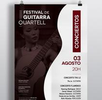 Cartel Festival de Guitarra . Un proyecto de Br, ing e Identidad y Diseño gráfico de Chary Esteve Vargas - 16-06-2016