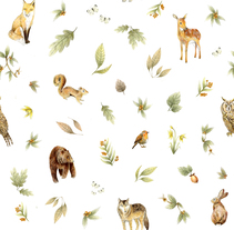 Forest Print. Un proyecto de Diseño, Ilustración, Diseño de vestuario, Diseño gráfico y Diseño de producto de Raquel Sarabia Ruda - 10-04-2016