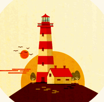 The Lighthouse . A Illustration, Motion Graphics, and Animation project by Maria Dolores Abujas - 13-09-2016