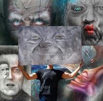 retratos creativos (todas las técnicas) . Un proyecto de Ilustración, Música, Audio, Dirección de arte, Diseño de personajes, Bellas Artes, Pintura, Vídeo y Arte urbano de Alejandro Viola - 13-09-2016