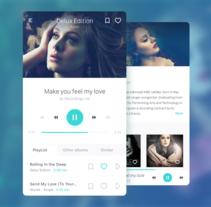 Music Player :: Daily UI Challenge #009. Un proyecto de UI / UX y Diseño Web de Jokin Lopez - Viernes, 16 de septiembre de 2016 00:00:00 +0200