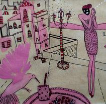 el pájaro. Un proyecto de Diseño, Ilustración y Bellas Artes de Erika Kovarikova         - 16.09.2016