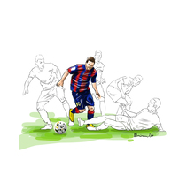 Messi. Un proyecto de Ilustración de Quim Sosa         - 22.09.2016