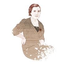 Retrato de la escritora Paula Contreras. Un proyecto de Ilustración de Julia Lillo          - 28.02.2015