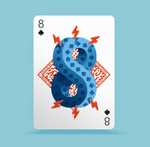 Playing Arts - 8 of Spades ♠. A Illustration, Art Direction, T, pograph, and Calligraph project by Eduardo Dosuá         - 27.09.2016