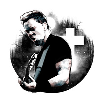 James Hetfield: Retrato ilustrado con Photoshop. A Design, Illustration, Fine Art, Graphic Design, Collage, and Street Art project by Alberto Vega Galicia         - 13.10.2016