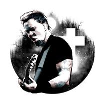 James Hetfield: Retrato ilustrado con Photoshop. Um projeto de Design, Ilustração, Artes plásticas, Design gráfico, Colagem e Arte urbana de Alberto Vega Galicia         - 13.10.2016