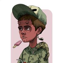 Little Devil. Un proyecto de Ilustración, Diseño de personajes, Bellas Artes y Pintura de Dhani Barragán - 31-08-2016