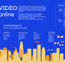Infographics_vídeo online. A Graphic Design project by Ana Tardáguila Llorente         - 26.10.2016