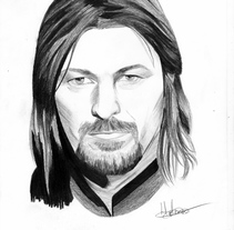 Retrato Sean Bean como Boromir (El señor de los anillos). A Illustration, Film, Video, TV, Fine Art, and Film project by helena diaz         - 29.10.2016