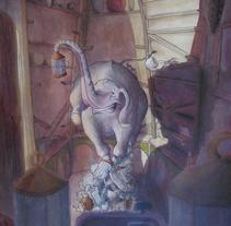 Elefante en una cacharrería. A Illustration, Character Design, and Fine Art project by Inma MC         - 30.10.2016