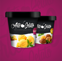 Arte Gelato. A Design, Br, ing, Identit, Creative Consulting, Graphic Design, Marketing, Packaging, and Product Design project by Jonathan  Prado - 13-11-2016