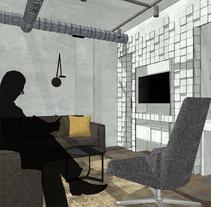 Proyecto final de Máster de una vivienda inspirada en la película de Blade Runner.. Um projeto de Design de interiores de Sara Prieto Iranzo         - 15.11.2016