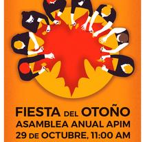 Cartel para la asamblea anual de la Asociación Profesional de Ilustradores de Madrid (APIM). Un proyecto de Ilustración de Ajo Galván - 15-10-2016
