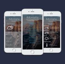 iMontaña, app para iOS. A Design, and Graphic Design project by Belén Maya Torres         - 27.11.2016