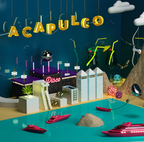 Acapulco, Guerrero, MX. A Design, Illustration, Advertising, 3D, Animation, Art Direction, and Graphic Design project by Jesus Jaimes Obé         - 27.11.2016