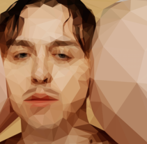 "Tommy Cash - Low Poly Illustration from ""Winnaloto"". A Illustration, Music, Audio, and Graphic Design project by Not On Earth - Marc Soler - Dec 01 2016 12:00 AM"