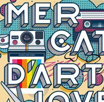 Cartel Mercat d'Art Jove de Sant Boi 2016. A Illustration, Art Direction, Graphic Design, and Street Art project by David Martinez Banus         - 30.11.2016