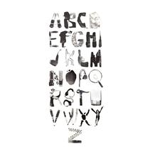 Abecedario novela negra. Um projeto de Ilustração e Tipografia de Raquel Fernández  ( EFEALCUADRADO) - 10-10-2016