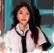 Asian Girl. Um projeto de Ilustração e Artes plásticas de Isem Garcia Massana - 14-12-2016