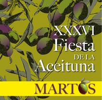 """Cartel Ganador del Concurso de Diseño: """"XXXVI Fiesta de la Aceituna"""" de Martos. A Illustration, and Graphic Design project by María José Ruiz Navarro         - 15.12.2016"""