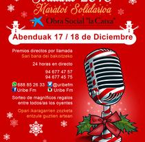 Cartel + flyer para Maratón navideño de Uribe FM. A Graphic Design project by Jorge de la Fuente Fernández         - 14.12.2016