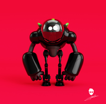 Mi Proyecto personajes de football americano Y ROBOT. A Design, 3D, Animation, Character Design, and Sculpture project by Juan Diego Chacón Solís         - 12.01.2017