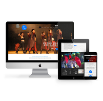 Website responsive escuela de danza Asrai Mataró. A Design, Graphic Design, Web Design, and Web Development project by disparoestudio - Jan 09 2017 12:00 AM