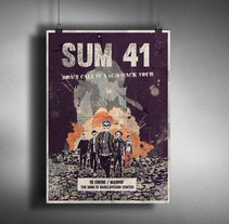 SUM 41- Don't Call It A Sum-Back Tour Poster. A Illustration, Music, Audio, and Graphic Design project by battduck         - 14.01.2017