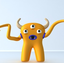 Mi monstruo en la ciudad. Um projeto de 3D e Design de personagens de Adrián Martini - 21-01-2017