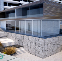 Sala de Ventas Amira_ Inmobiliaria Absalon. Un proyecto de 3D y Arquitectura de Daniela Águila - 16-01-2017