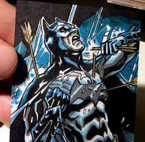 ACEO Sketchcards 'Liga de la Justicia'. A Illustration, and Comic project by Alberto Silva         - 09.02.2017