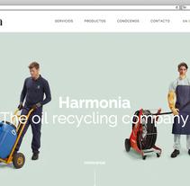Web corporativa para Harmonia Energy. Un proyecto de Desarrollo Web de rseoaneb - 14-09-2015