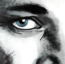 Mi Proyecto : Retrato Ragnar-Lothbrok serie Vickingos. Un proyecto de Diseño e Ilustración de María González - 14-02-2017