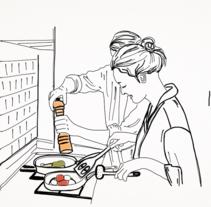 Momentos en pareja. Um projeto de Ilustração de Berta Teixidor March         - 01.02.2017