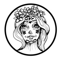 Dulce Catrina . A Illustration, and Graphic Design project by Isa Sandoval - 16-02-2017