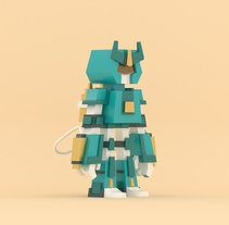 Diseño de Robot 3D. A Illustration, 3D, and Character Design project by Francisco Vargas         - 18.02.2017