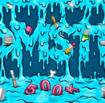 Derrame de Ideas. Un proyecto de Diseño, Ilustración, Publicidad, Dirección de arte, Diseño de personajes, Gestión del diseño, Diseño gráfico, Pintura, Caligrafía, Comic y Arte urbano de Shiffa McNasty - 23-02-2017