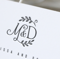 Wedding logotype. A Br, ing, Identit, Graphic Design, T, and pograph project by Carles Ivanco Almor         - 08.03.2017