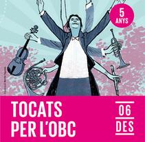 Tocats per l'OBC - Tocados por la OBC. L'Auditori de Catalunya. Un proyecto de Ilustración de Martin Tognola - 13-03-2017