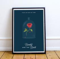 The Beauty and the Beast. Um projeto de Design, Ilustração e Cinema de Eva Mez         - 26.03.2017