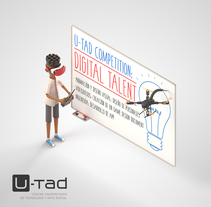 U-tad: Ilustración Digital talent. A Design, Illustration, Advertising, 3D, Art Direction, Character Design, Creative Consulting, Education, and Graphic Design project by Ninio Mutante - 13-11-2016
