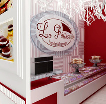 Pastelería. Un proyecto de 3D, Arquitectura interior y Diseño de interiores de Andrea Acevedo Echezuría         - 27.03.2017