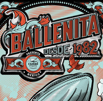Ballenita - Cartel Práctica. Un proyecto de Diseño e Ilustración de Ademar  García - 27-03-2017