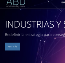 Web Adelanta Big Data. A Web Design project by Irina Alegre García         - 03.01.2017