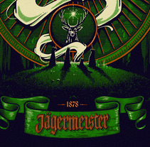 Jägermeister. A Illustration, and Screen-printing project by Panco Sassano - 14-04-2017