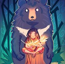 Bear. A Design, Illustration, and Character Design project by Gema Moratilla         - 20.04.2017