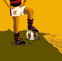 Flamengo, fútbol centenario.. Um projeto de Ilustração de Gustavo Berocan         - 01.03.2012
