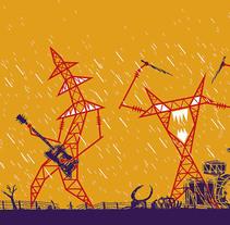 Goiânia Noise Festival . Um projeto de Ilustração de Gustavo Berocan         - 17.07.2013